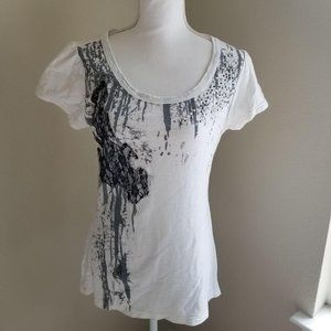 🦄 Maurices / M / Embellished and Lace Trim Tee